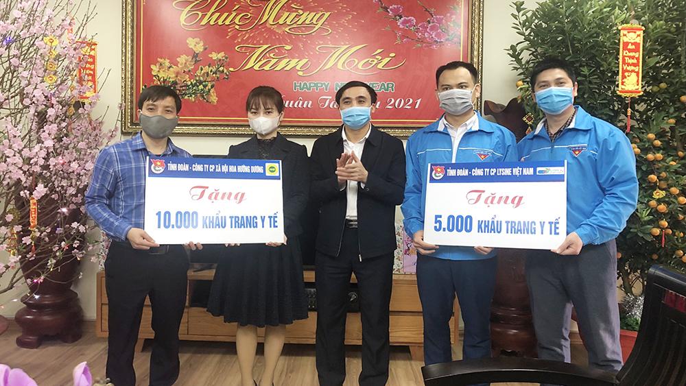 Tuổi trẻ Bắc Giang: Tặng hơn 33 nghìn chiếc khẩu trang y tế phòng, chống dịch Covid-19