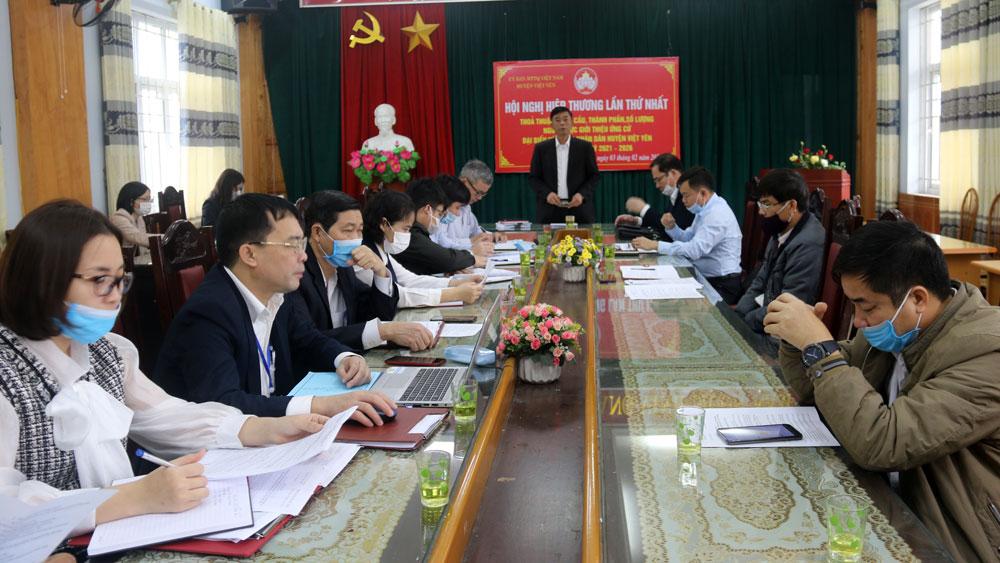 Việt Yên: Sẽ bầu 35 đại biểu HĐND huyện khóa XX, nhiệm kỳ 2021-2026