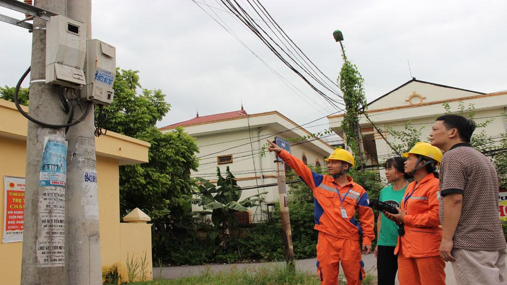 Bắc Giang, điều chỉnh, lịch ghi chỉ số, công tơ điện