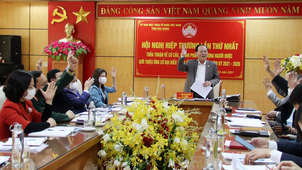 Bắc Giang: Hiệp thương về cơ cấu, thành phần, số lượng người ứng cử ĐBQH khóa XV, đại biểu HĐND tỉnh khóa XIX