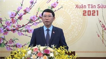 Chủ tịch UBND tỉnh Lê Ánh Dương chúc mừng năm mới- Xuân Tân Sửu 2021