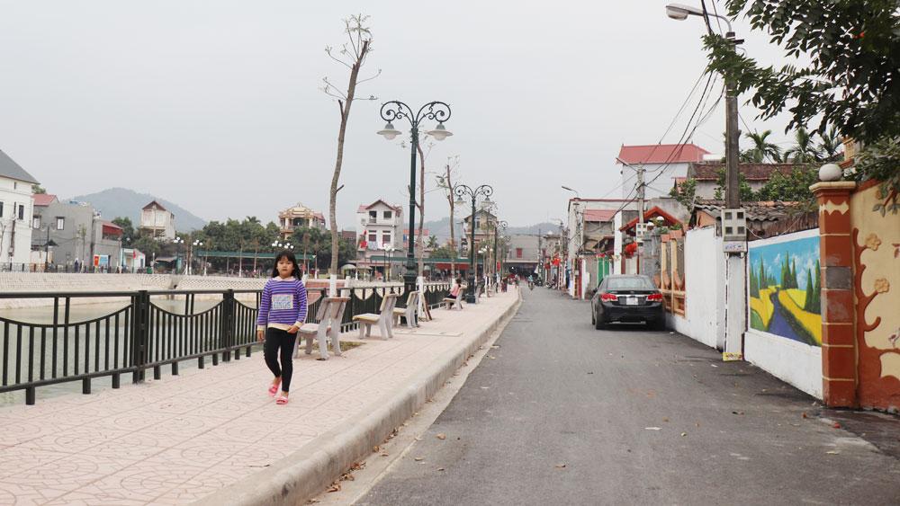 Cảnh quan thôn Tân Mỹ, xã Đồng Sơn khang trang, hiện đại.