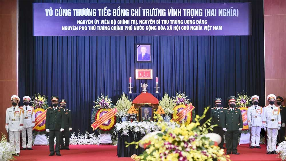 Ceremony , last respects , former Deputy PM Truong Vinh Trong