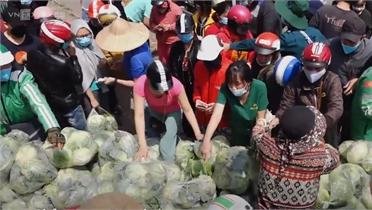 Hàng dài người đội nắng giải cứu nông sản Hải Dương