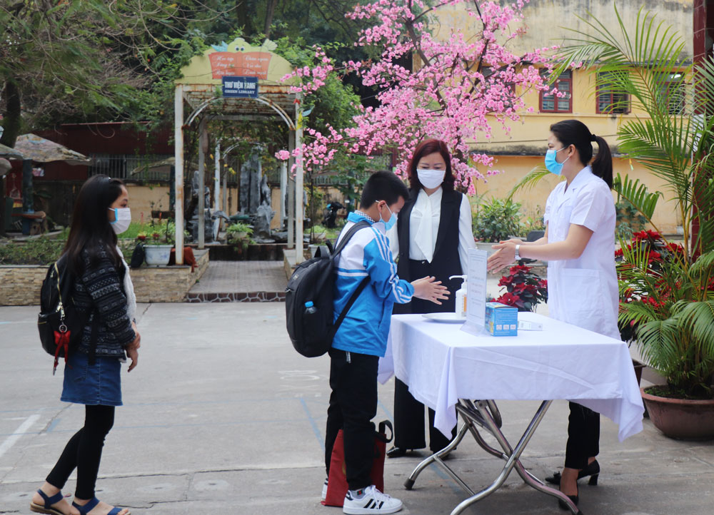 covid, Bắc Giang, giáo dục, học sinh trở lại trường, phòng chống dịch