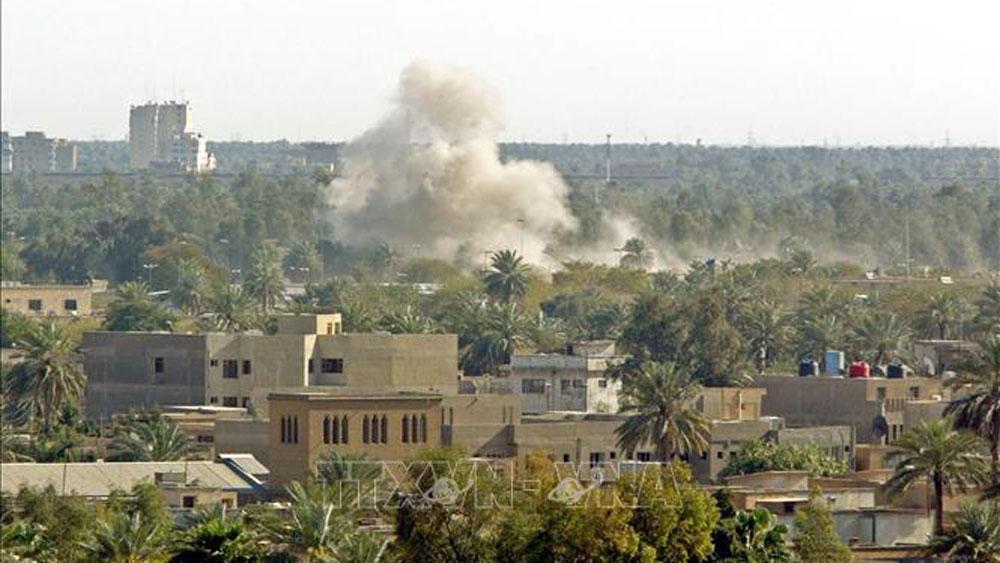 Iraq,Thủ đô Baghdad,tấn công bằng tên lửa,vùng xanh,đại sứ quán Mỹ