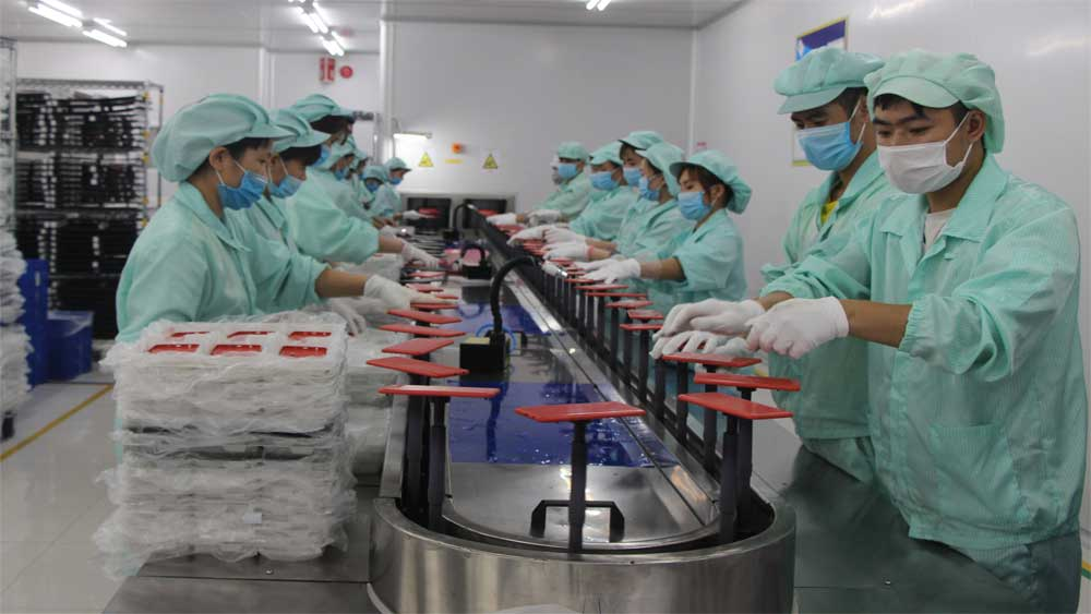 Bac Giang's industrial production value, 37.8 percent ,  2 months