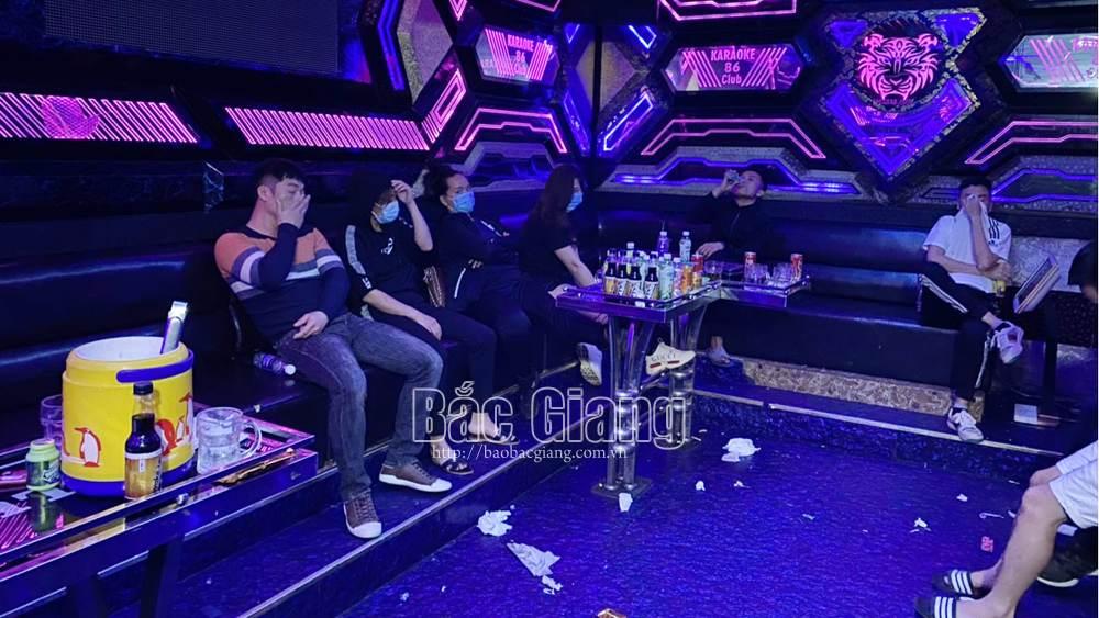 Bắc Giang phát hiện một quán karaoke có 28 đối tượng dương tính với chất ma túy