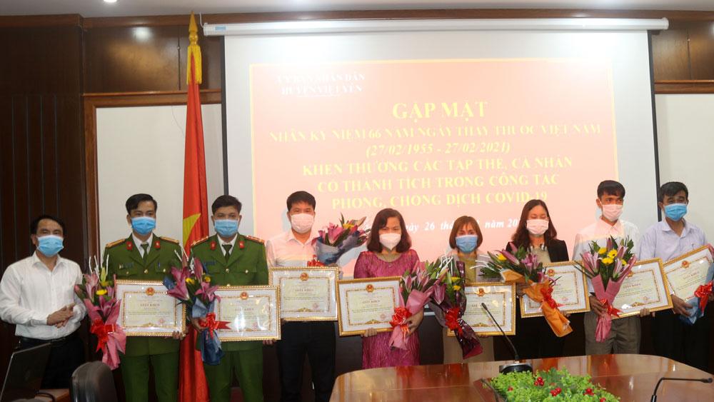 Việt Yên khen thưởng 56 tập thể, cá nhân xuất sắc trong phòng, chống dịch