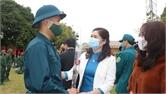 TP Bắc Giang: 175 thanh niên lên đường nhập ngũ