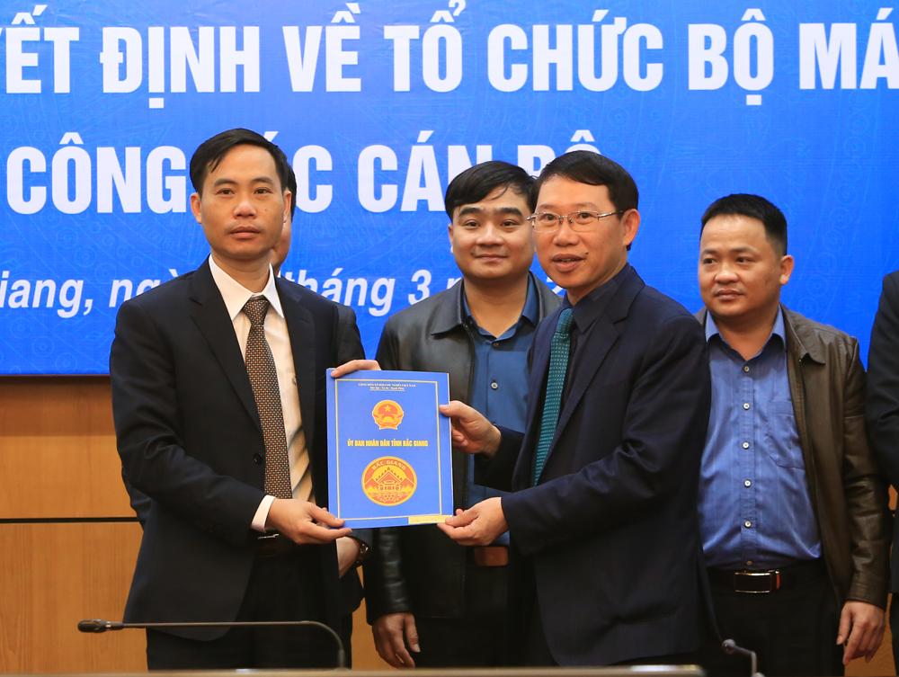 Chủ tịch UBND tỉnh, Bắc Giang, bổ nhiệm, dự án