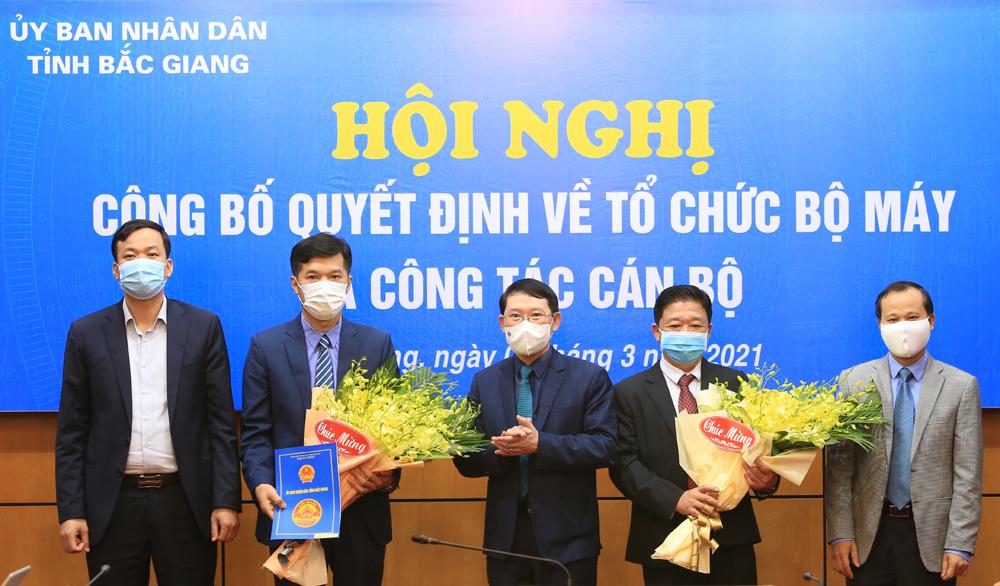 Điều động, bổ nhiệm, Sở Xây dựng, Bắc Giang, Chủ tịch UBND tỉnh