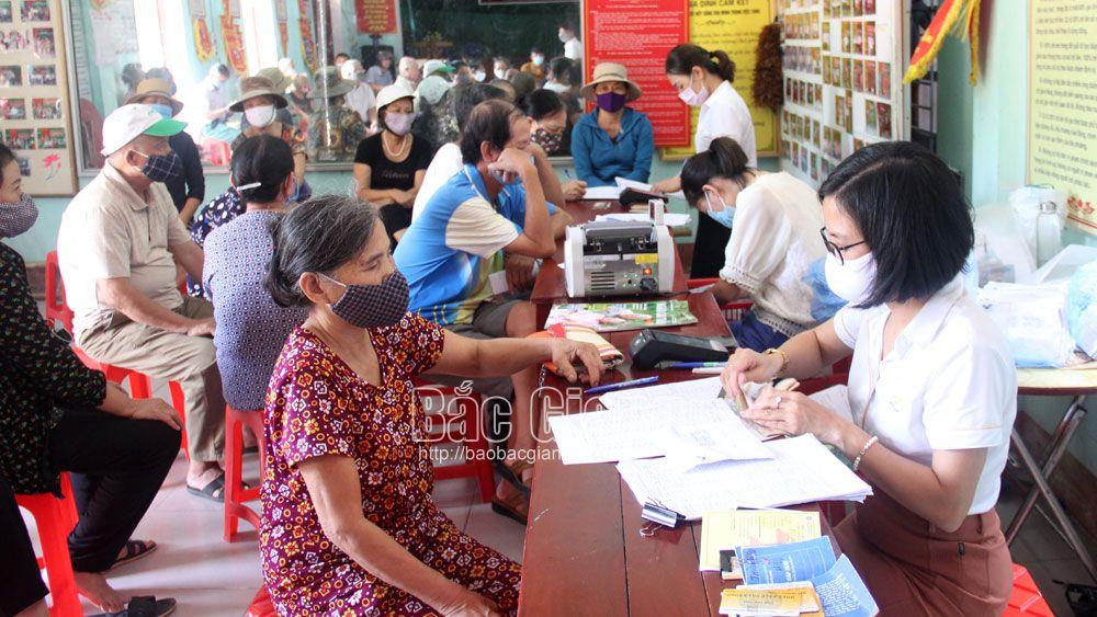 chi trả, lương hưu, BHXH, Bưu điện, Bắc Giang