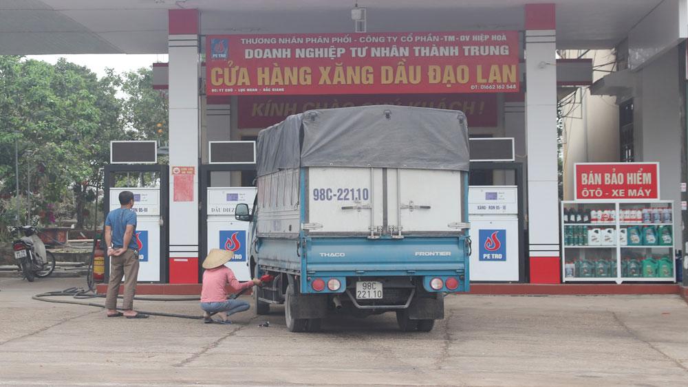 Xăng dầu, kinh doanh xăng dầu, Bắc Giang