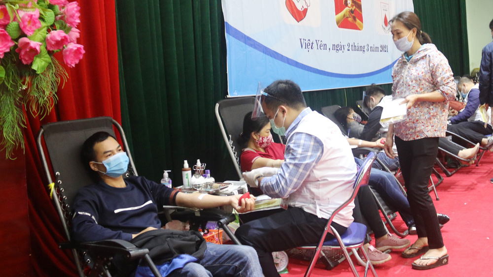 Bắc Giang: Tiếp nhận 1.043 đơn vị máu an toàn