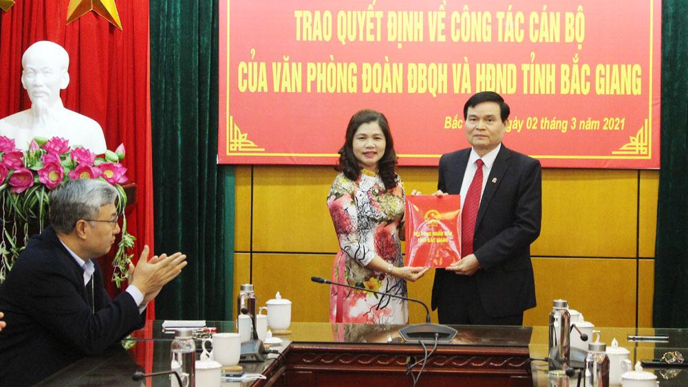 Bắc Giang, Chánh Văn phòng, Phó Chánh Văn phòng ĐBQH, HĐND tỉnh.