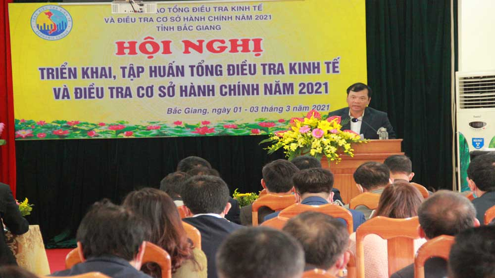 Bac Giang conducts 2021 economic census from March 1