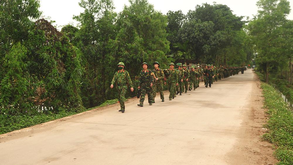 Bộ CHQS tỉnh Bắc Giang, luyện tập chuyển trạng thái sẵn sàng chiến đấu