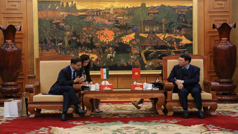 Chủ tịch UBND tỉnh Lê Ánh Dương, Đại sứ Ấn Độ Pranay Verma