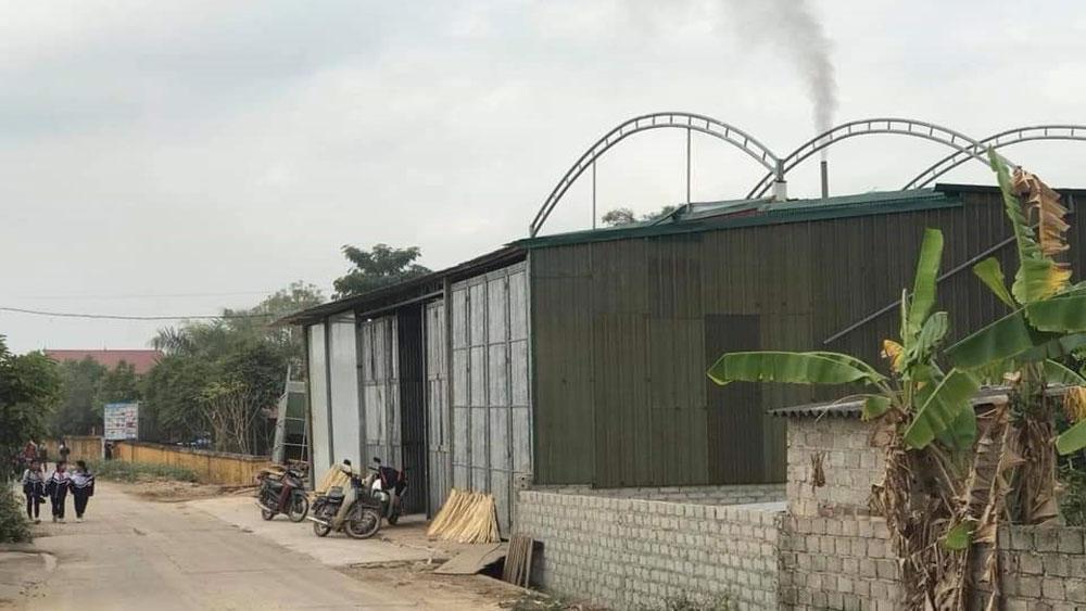 ô nhiễm môi trường, Bắc Giang, môi trường, doanh nghiệp, xả thải, than, Hợp tác xã mỳ Chũ Bắc Giang Tùng Chi