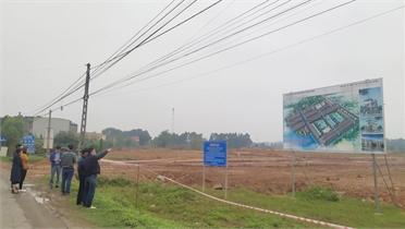 Dự án KĐT mới Đông Bắc, thị trấn Bích Động: Đang thi công, nhiều người đã nhận tiền cọc trái phép