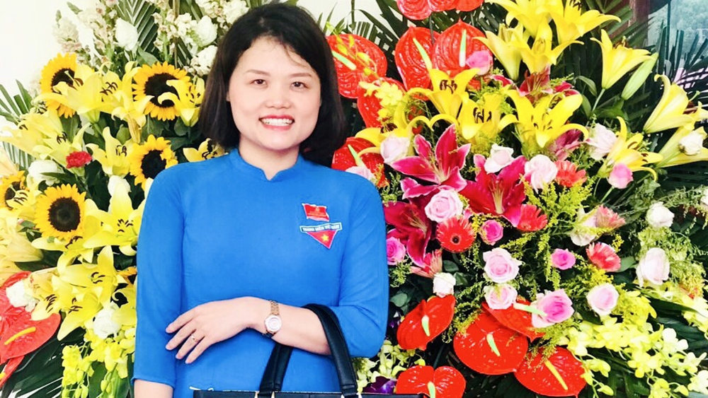 Bí thư Đoàn thị trấn Nham Biền Nguyễn Thị Phương Thanh giành giải thưởng Lý Tự Trọng