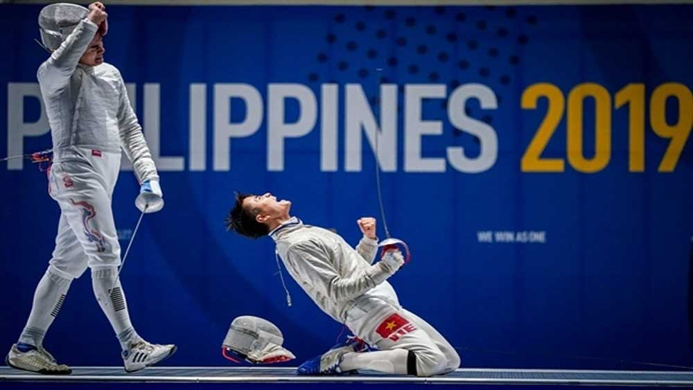 Vietnamese fencing, high bar, SEA Games 31