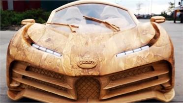 """Ông bố làm """"siêu xe"""" gỗ cho con giá hơn 100 triệu đồng"""