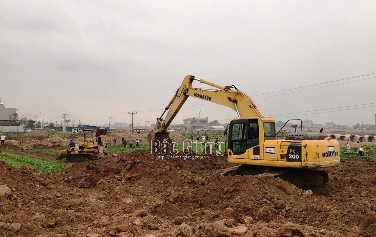 Lạng Giang: Cưỡng chế thu hồi đất thực hiện dự án Khu đô thị mới phía Tây thị trấn Vôi