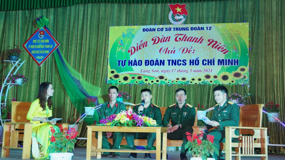 """Trung đoàn 12 (Sư đoàn 3) tổ chức diễn đàn """"Tự hào Đoàn TNCS Hồ Chí Minh"""""""
