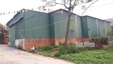 Thị trấn Tân An (Yên Dũng): Cơ sở sản xuất túi ni lon gây ô nhiễm môi trường