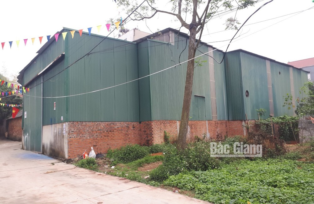 Sản xuất túi nilon gây ô nhiễm, tổ dân phố Trung, thị trấn Tân An, Yên Dũng