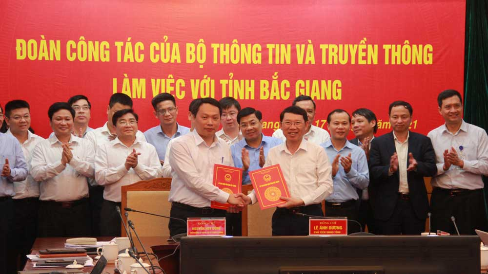 Creating advantages, Bac Giang, make breakthroughs, digital transformation, Minister