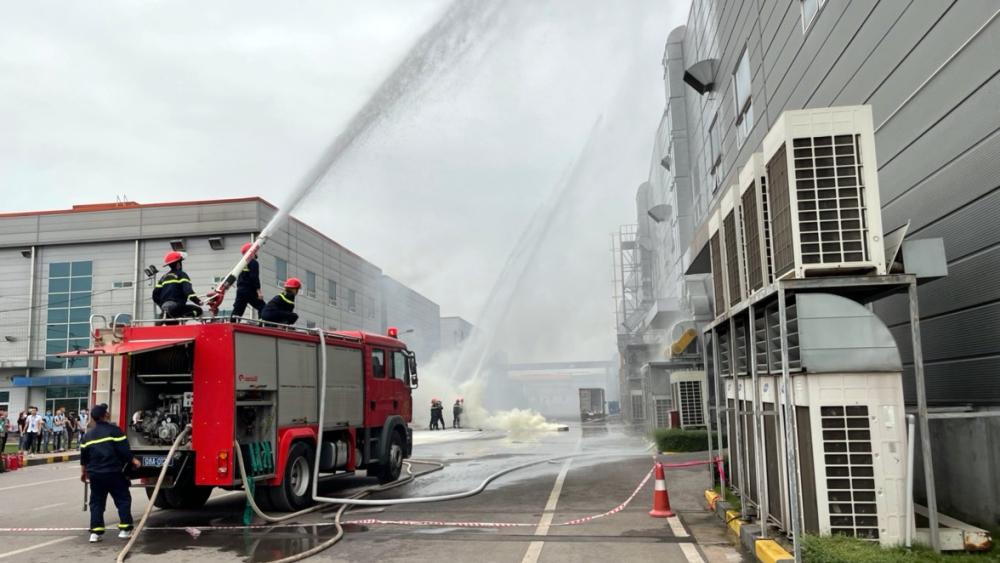 Phòng cháy chữa cháy, Công an Bắc Giang, Khu công nghiệp Vân Trung, Công ty TNHH MTV SJ Tech Việt Nam
