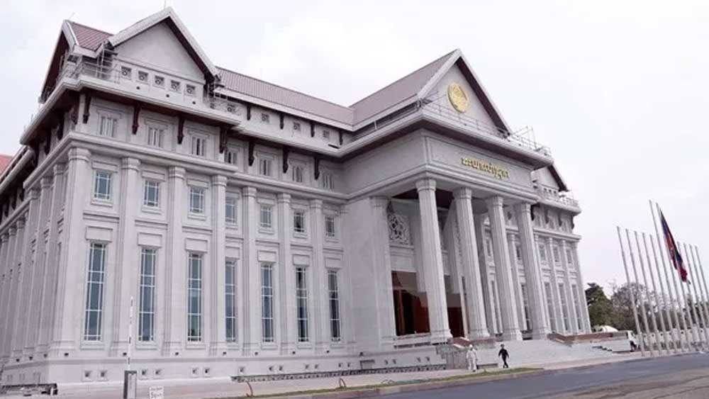 Vietnamese-funded new National Assembly Building, Laos
