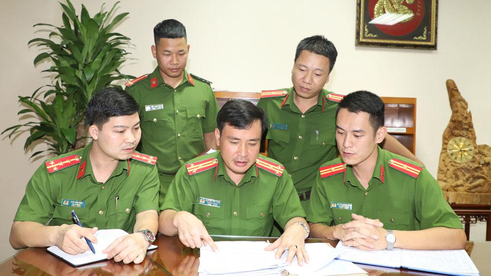 Công an tỉnh, Bắc Giang,  chuyên án, hồ sơ vụ án, Thượng tá Nguyễn Thế Tuấn, Trưởng phòng Cảnh sát hình sự