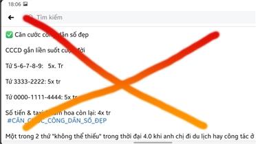 Bắc Giang: Không có việc mua bán số căn cước công dân đẹp
