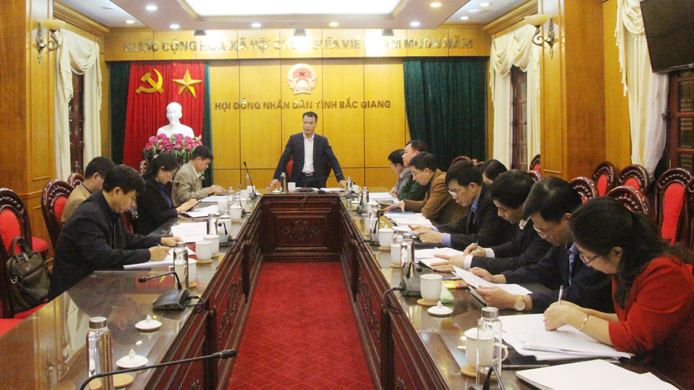 Thẩm tra một số nội dung trình kỳ họp thứ 13, HĐND tỉnh khóa XVIII