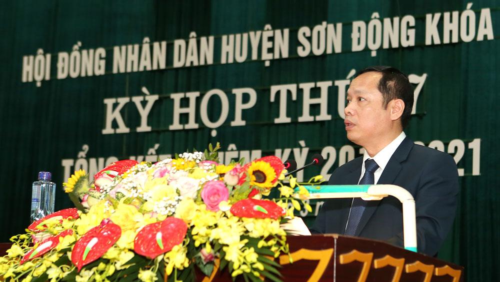 tổng kết; hội đồng nhân dân; Sơn Động; Bắc Giang