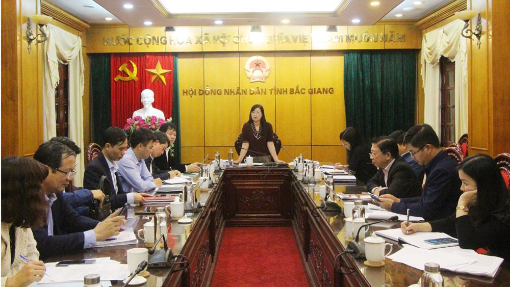 Thẩm tra, dự thảo, tờ trình, Nghị quyết, Ban Kinh tế-Ngân sách, HĐND tỉnh, quy hoạch, Bắc Giang
