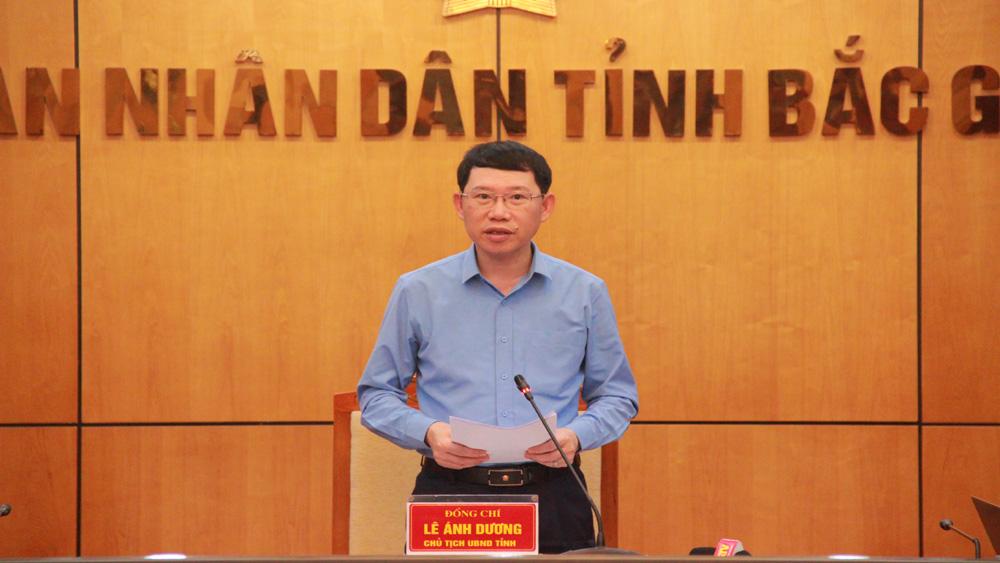 Chủ tịch UBND tỉnh Lê Ánh Dương kết luận buổi giao ban.