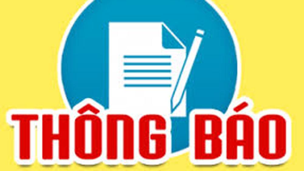 Chủ tịch UBND tỉnh Bắc Giang thông báo giờ làm việc mùa Hè