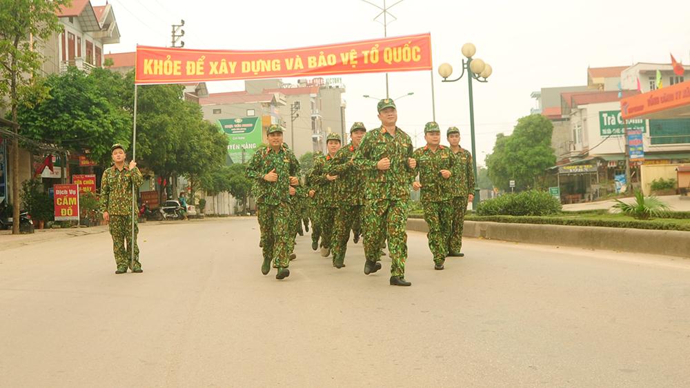 Bộ CHQS tỉnh tổ chức Ngày chạy thể thao quân sự kết hợp Ngày chạy Olympic