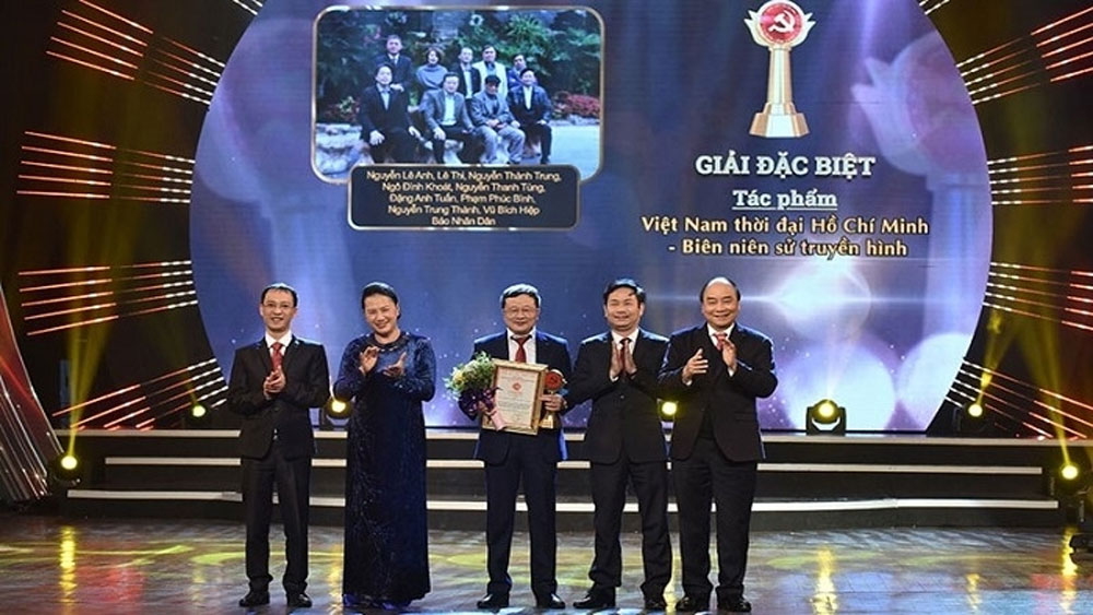 65 prizes, National Press Awards, Party Building 2021, Bua Liem Vang, Golden Hammer & Sickle, most outstanding entries