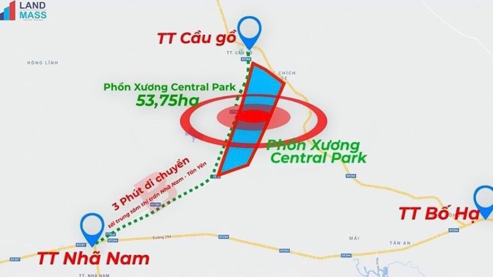 Vị trí và kết nối vùng của khu dân cư mới tại Phồn Xương, Yên Thế.