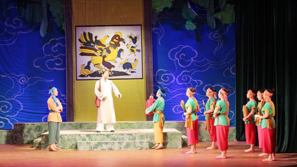 """Nhà hát Chèo Bắc Giang ra mắt vở chèo """"Trinh Nguyên"""""""