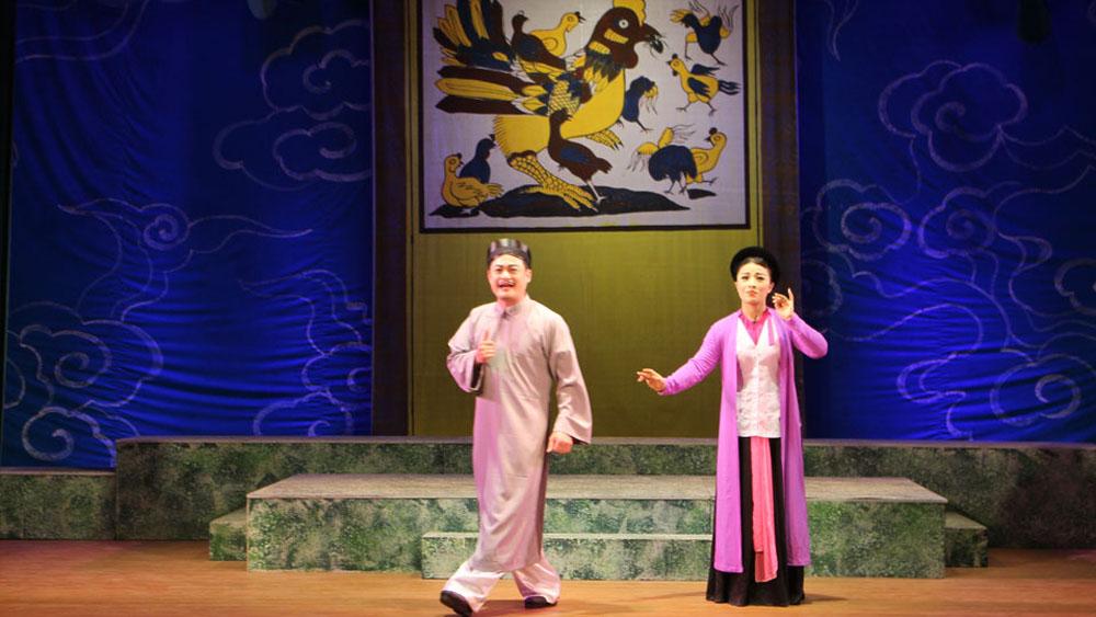 Nhà hát chèo Bắc Giang, vở diễn Trinh Nguyên, Nghệ sĩ Ưu tú Tạ Quang Lẫm, đạo diễn Hà Quốc Minh, bầu cử Đại biểu Quốc hội