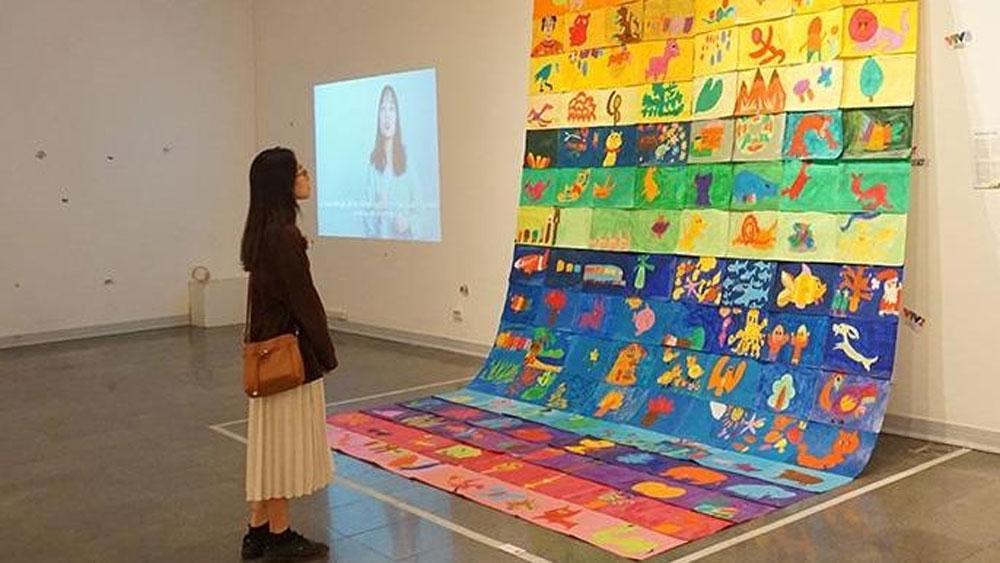 Exhibition, displays artworks, children with autism, World Autism Awareness Day,  Parallel World