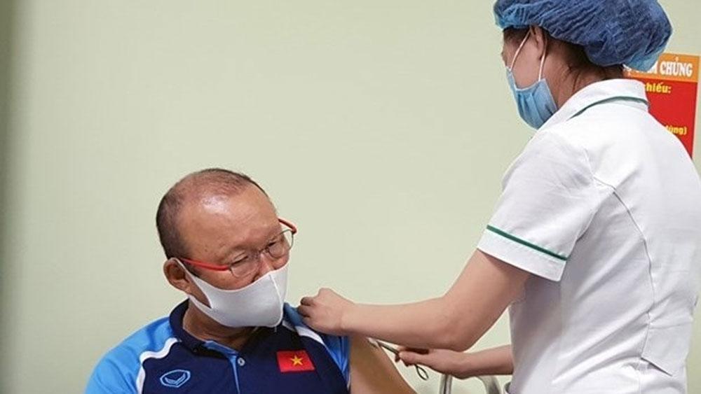 National men's football team, Covid-19 vaccinations, head coach Park Hang-seo, international tournaments, FIFA World Cup
