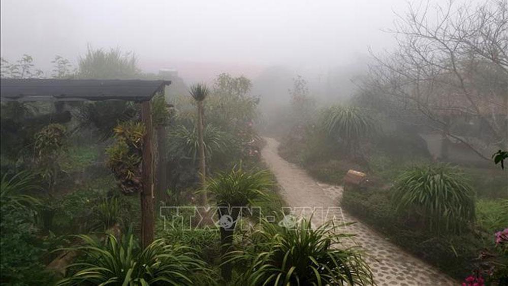 Thời tiết tại Sa Pa chuyển rét hại; đề phòng mưa đá, lũ quét